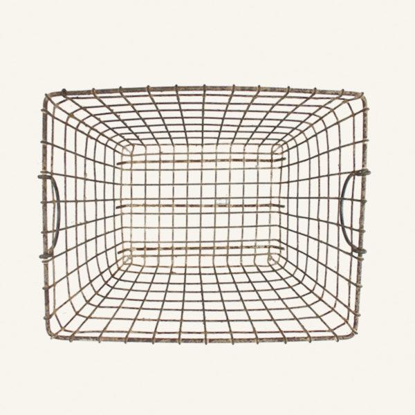 Vintage Rectangular Wire Basket