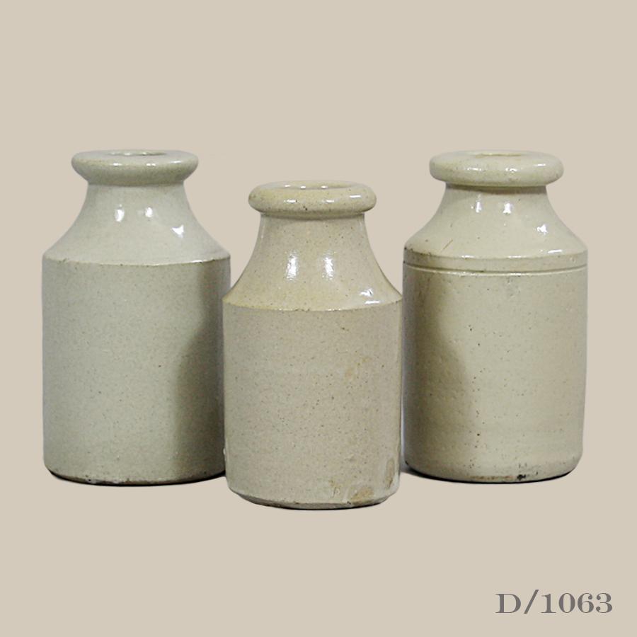 Stoneware, Inkpot, Vintage, Antique
