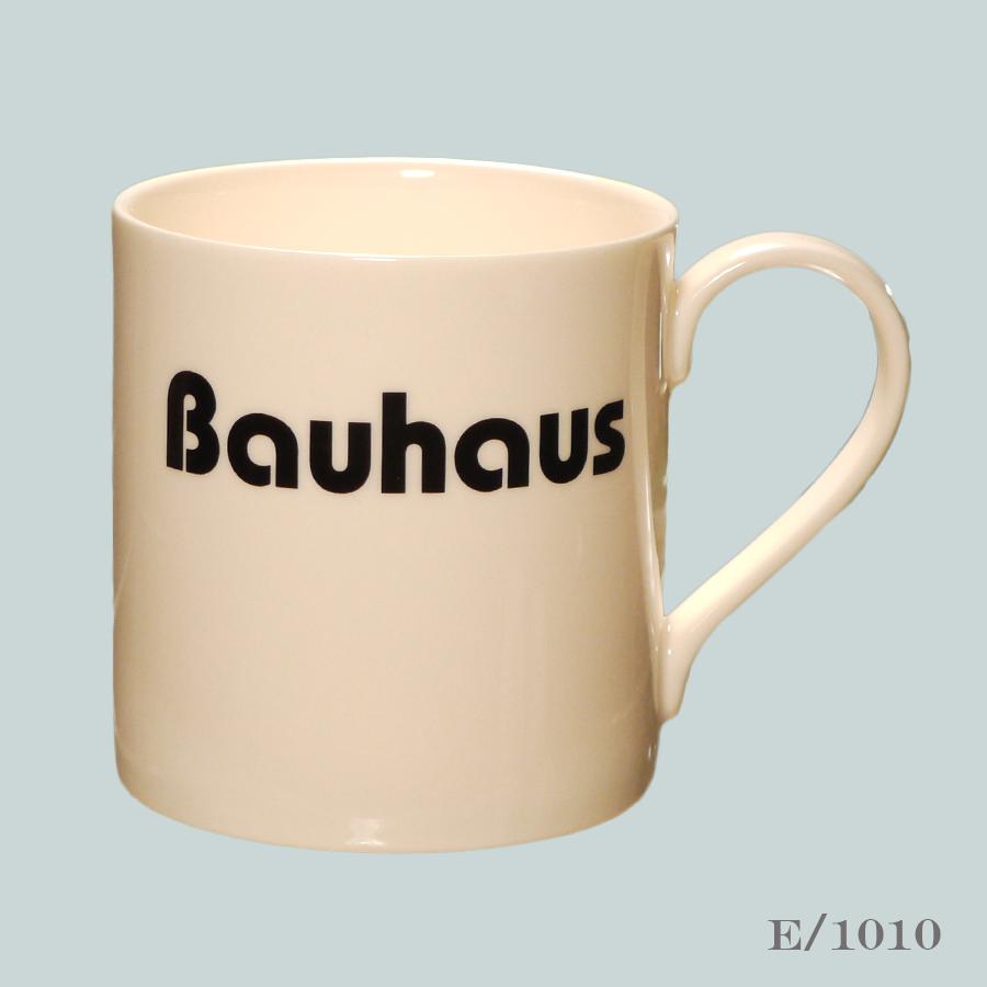 Bauhaus font mug typography