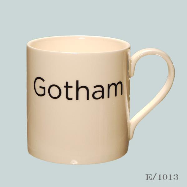 Gotham Font Mug Typography