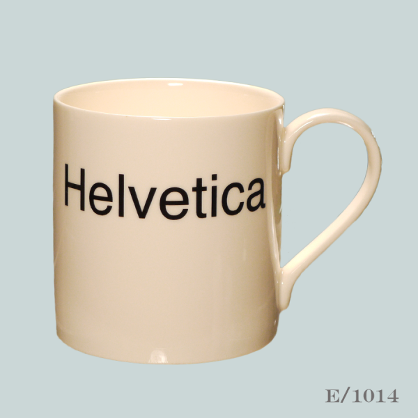 helvetica font mug typography