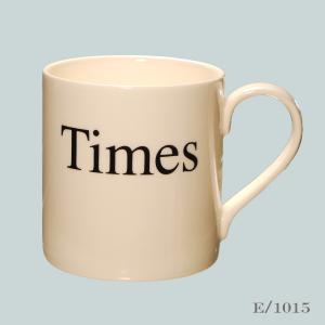 Times font mug typography