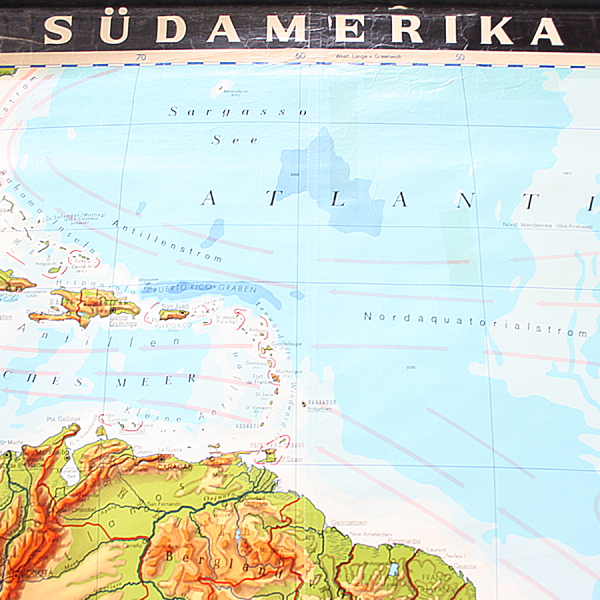 vintage_giant_wall_map_south_america_geographical_