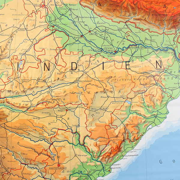 vintage_giant_wall_map_india_geographical_