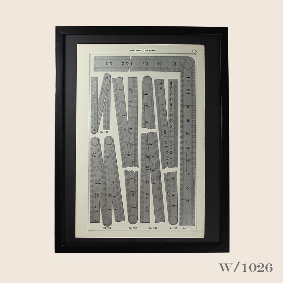 W1026 Vintage Print of Rules Framed44