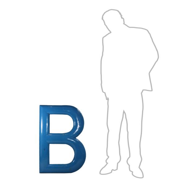 vintage_letter_B_blue_wooden_large_