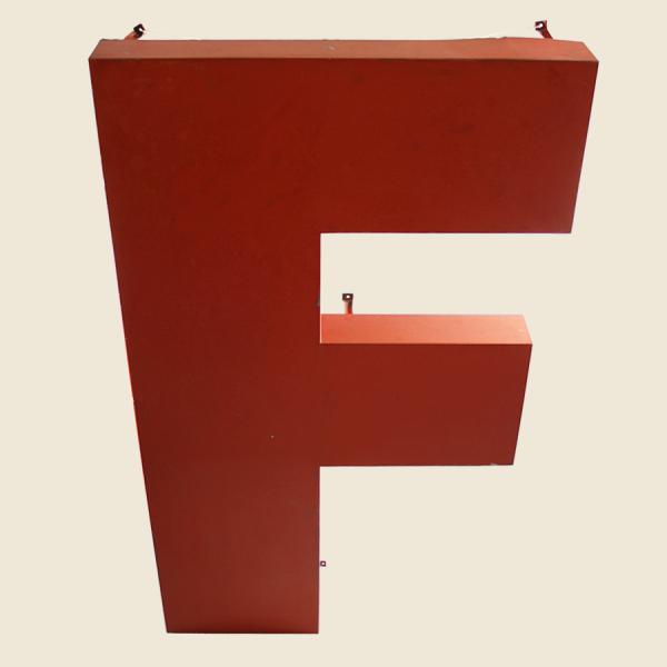 vintage_letter_F_red_metal_large_