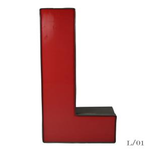 vintage letter light L