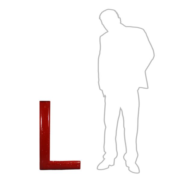 vintage_letter_L_red_wooden_