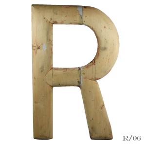 large_vintage_letter_R_wooden_large_