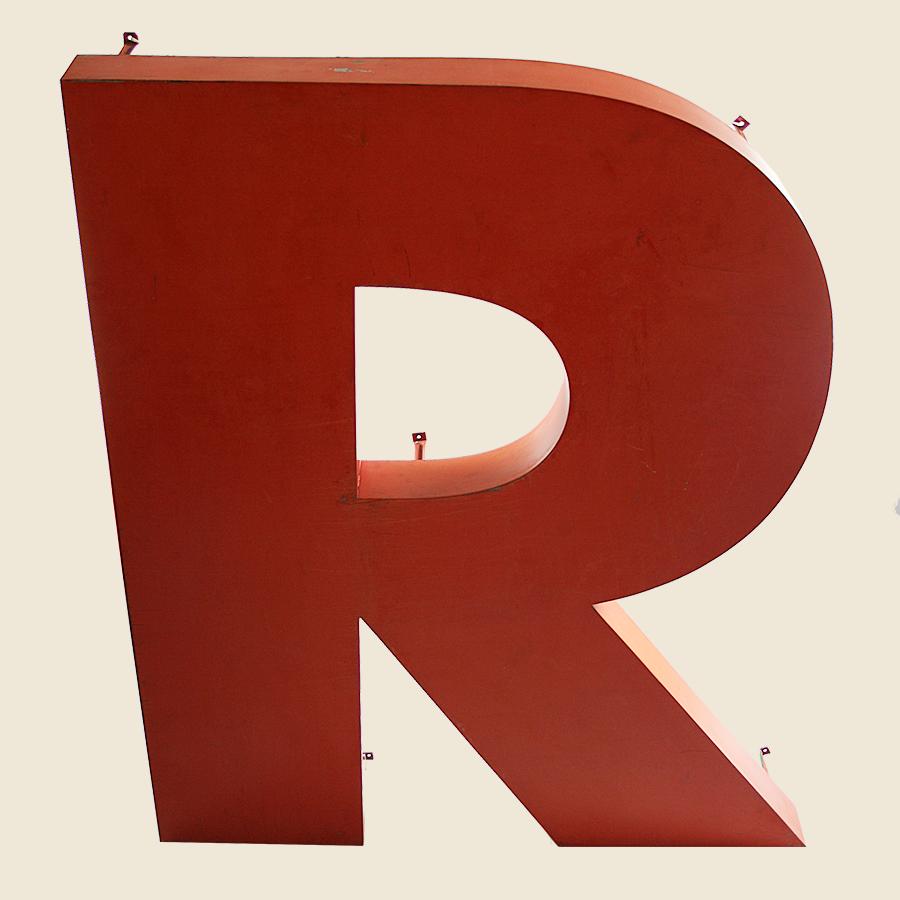 Large Metal Letter R Giant Vintage Letter R  Vintage Matters