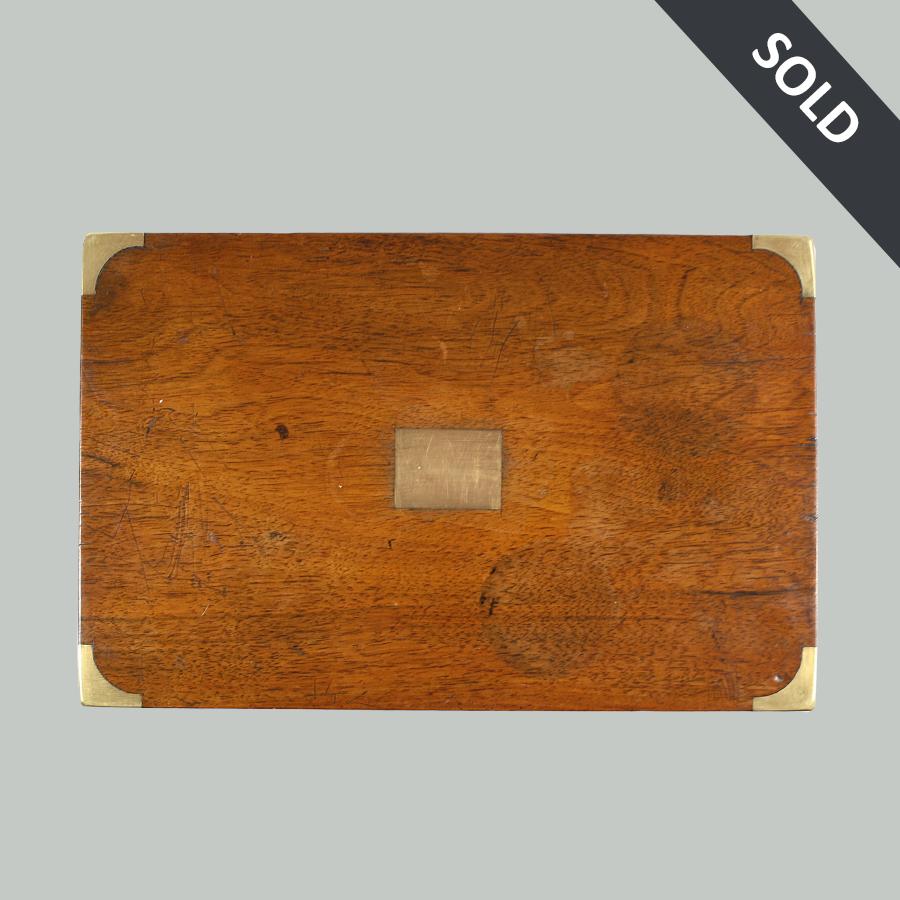 D1022 Victorian Antique Vintage Wooden Writing Box66