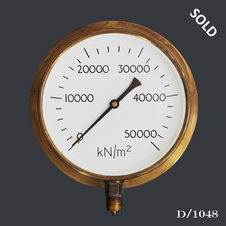 D1048 Vintage Brass Pressure Gauge66