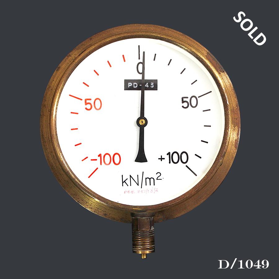 D1049 Vintage Brass Pressure Gauge66
