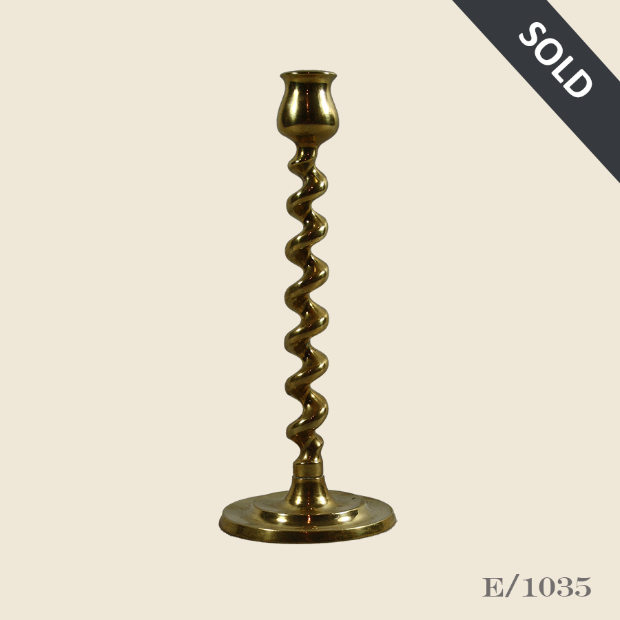 E1035_Vintage_Brass_Barley_Twist_Candlestick_44