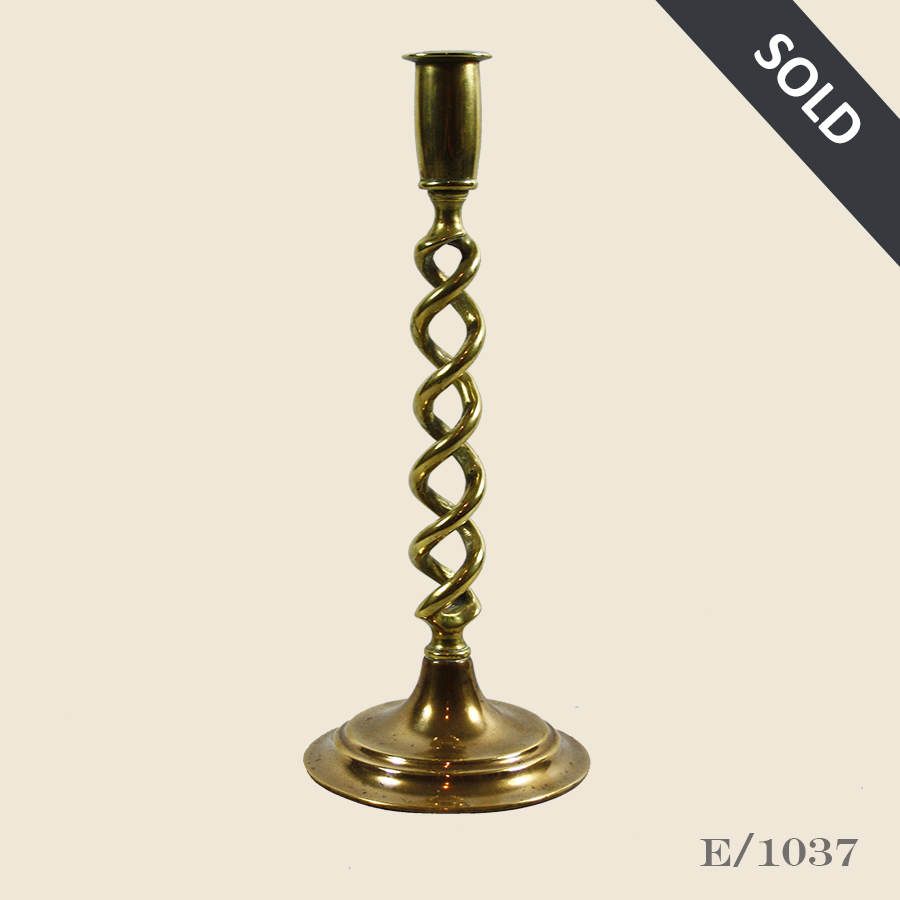 E1037 Vintage_Brass_Barleytwist_Candlestick44