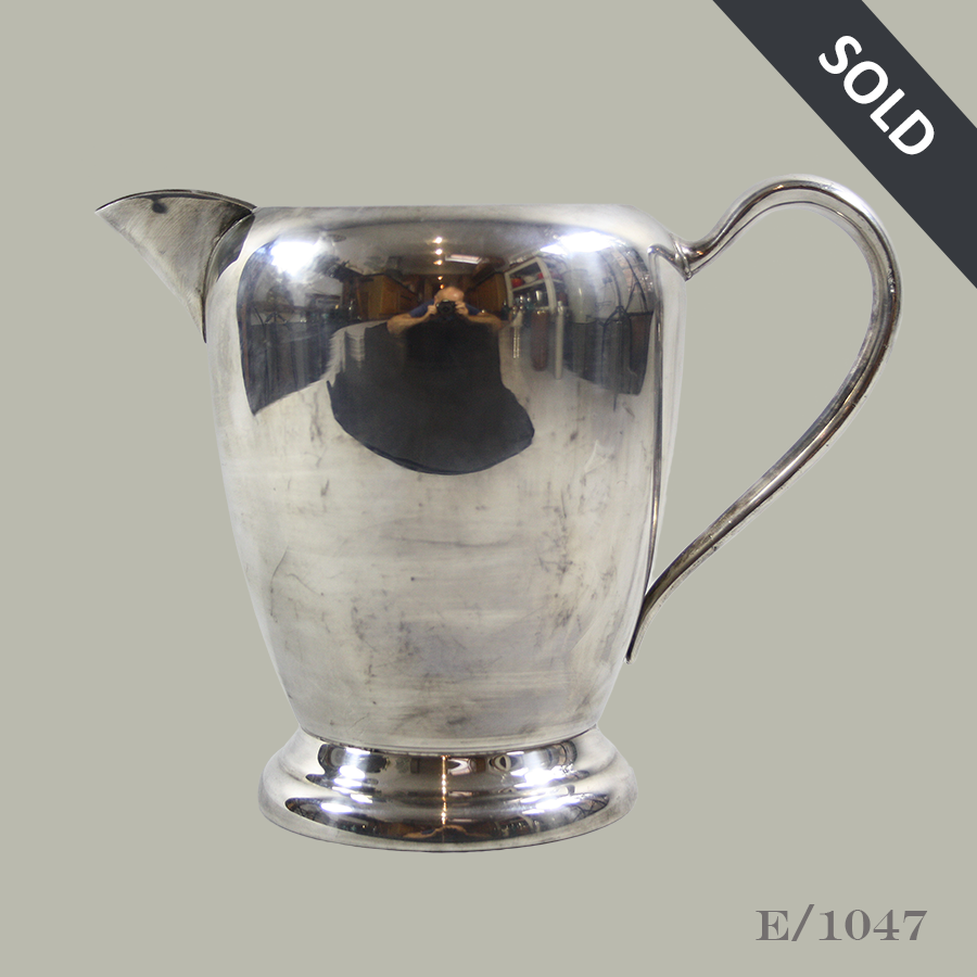 E1047 Vintage Silverplate Water Jug_44