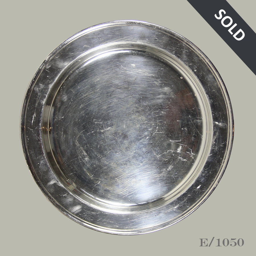E1050 Vintage Silverplate Tray Charger Plate_44