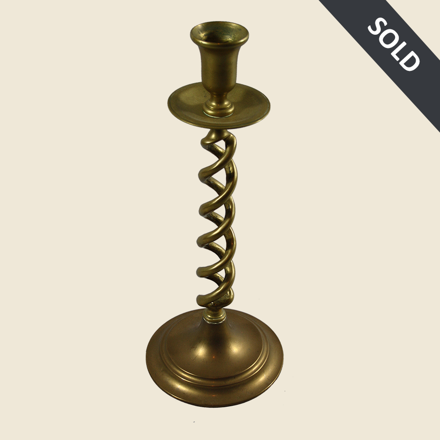 E1061 Vintage_Brass_Barleytwist_Candlestick-45