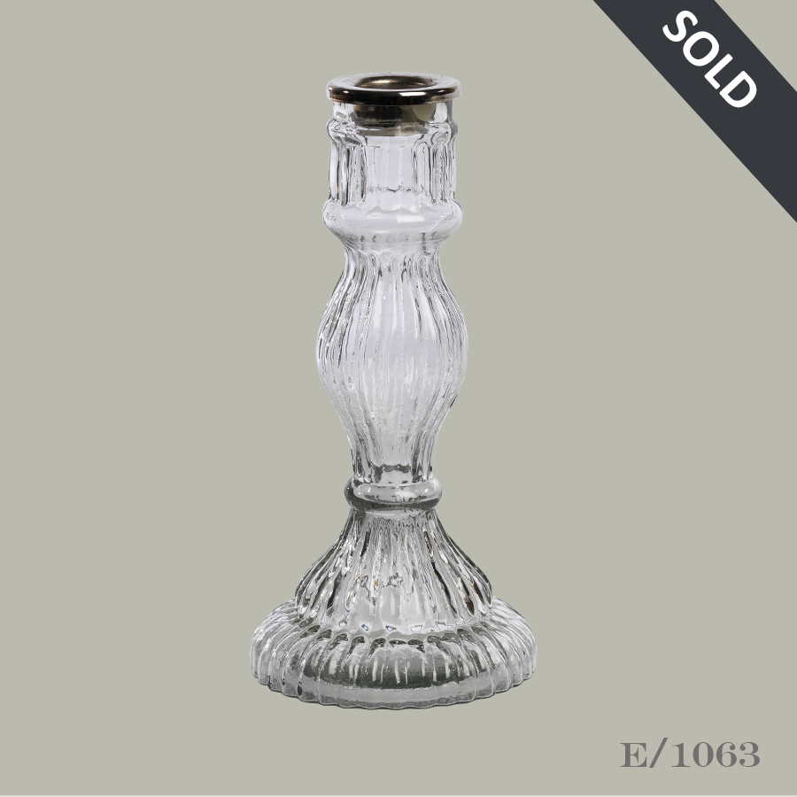 E1063 Vintage Style Glass Candlestick44