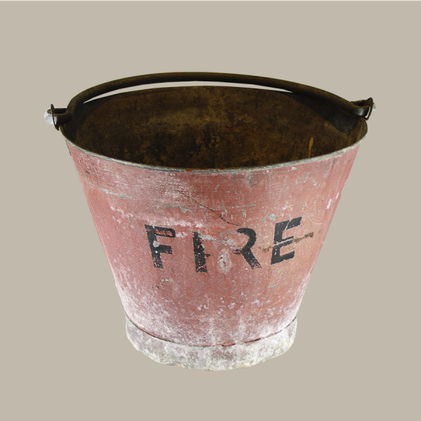 vintage, fire, bucket,