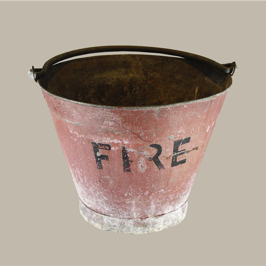 Vintage Red Fire Bucket Vintage Matters