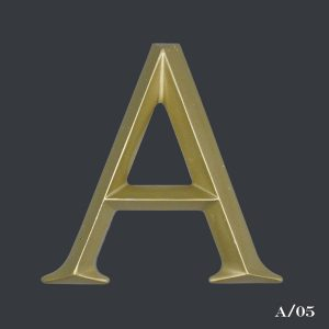 vintage gold letter A initial