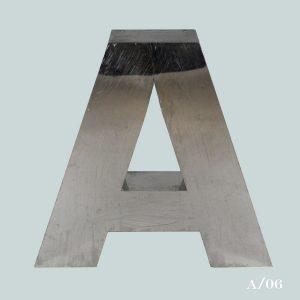 large vintage metal letter A