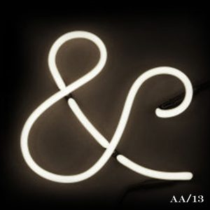 neon ampersand letter light seletti &