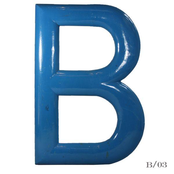 large vintage letter B wooden