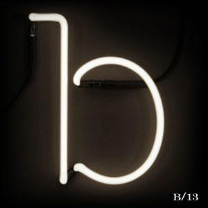 neon B letter light seletti