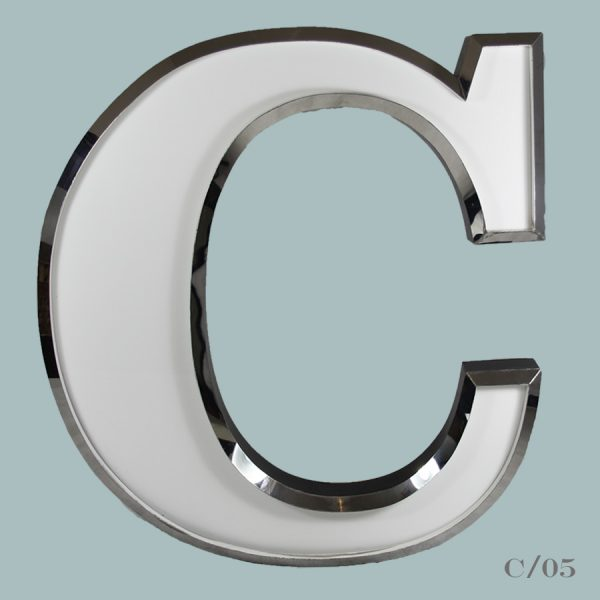vintage illuminated letter C light
