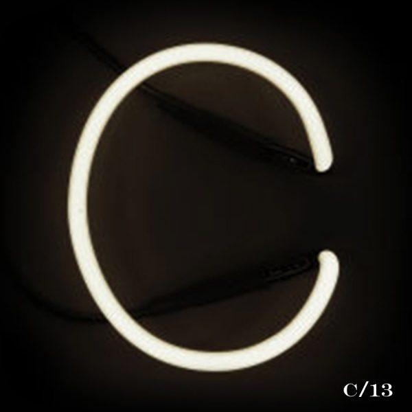 neon C letter light seletti