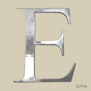 vintage metal letter E cast aluminium