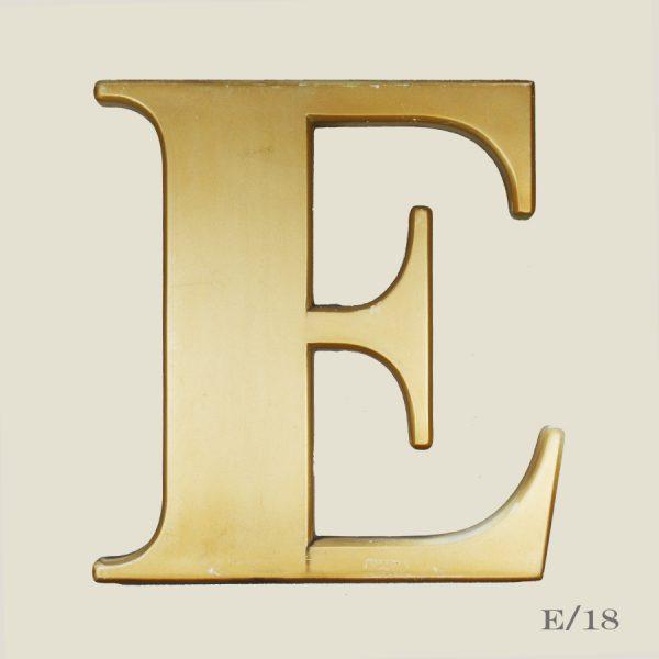 vintage gold letter E