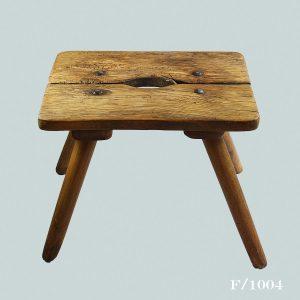 vintage pine stool
