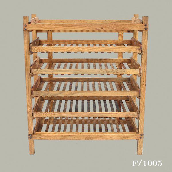 vintage pine bakers rack