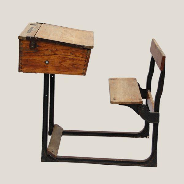 vintage school desk and seat,