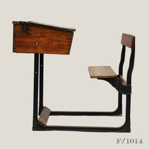 vintage school desk and seat,