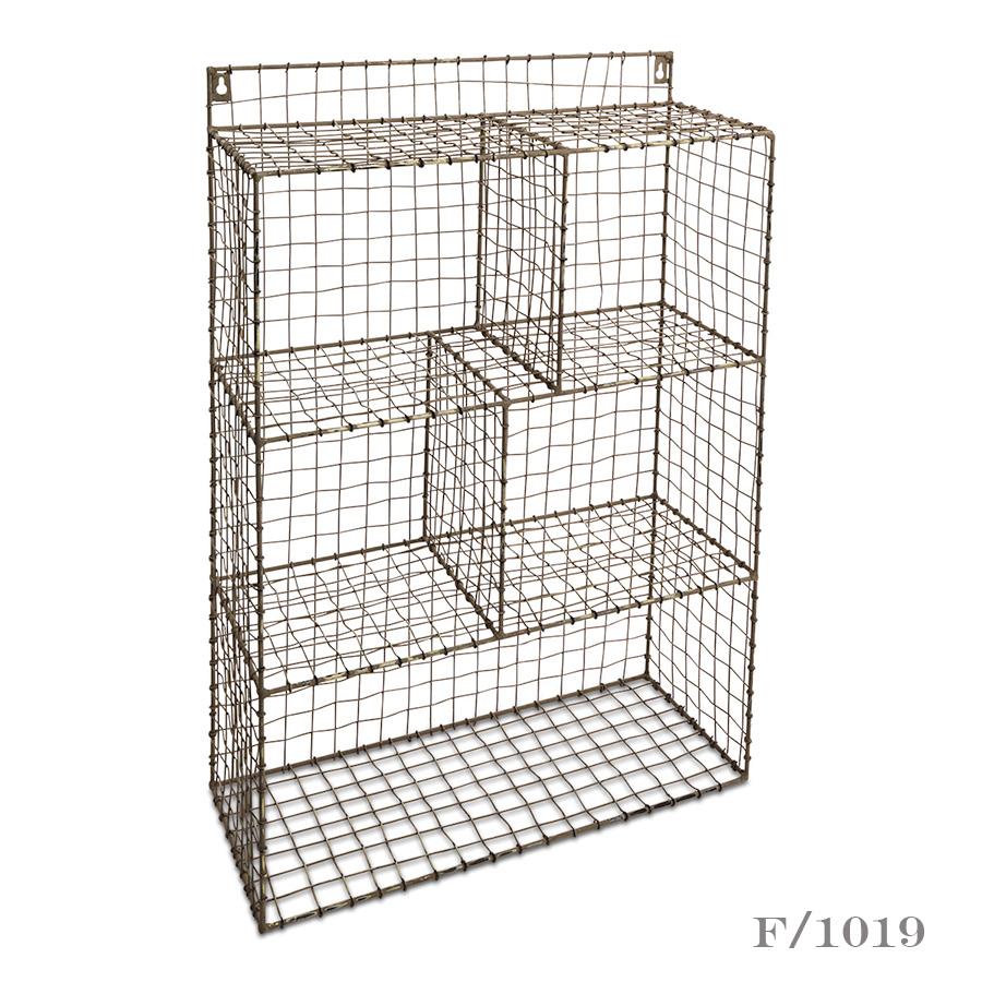 tall wire storage shelf unit vintage matters. Black Bedroom Furniture Sets. Home Design Ideas