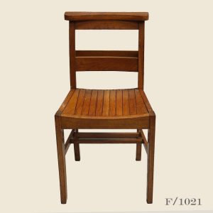 Vintage wooden school chairs,