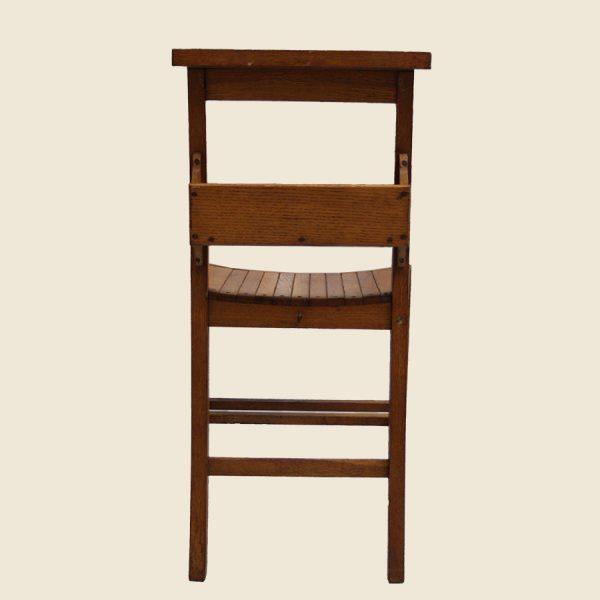 Vintage wooden school chairs,