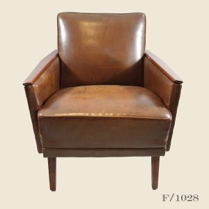 vintage mid century leather armchair