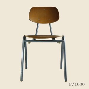 vintage stacking chairs school plywood