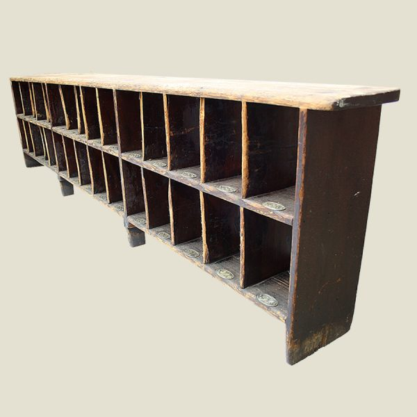 vintage wooden shoe storage rack,