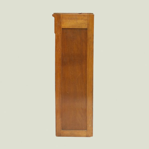 vintage oak tambour, vintage, oak, storage, shelving unit,