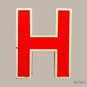 Vintage Letter Light H