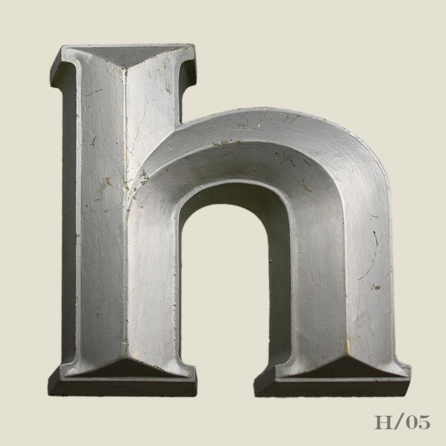 vintage resin letter H
