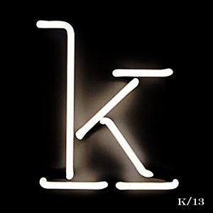 neon K letter light seletti