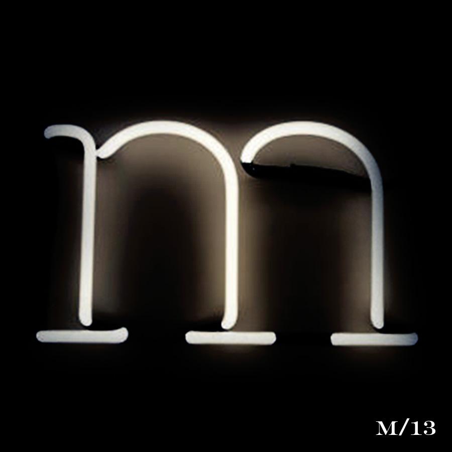 neon letter m light